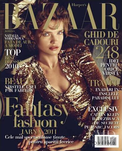 Natalia Vodianova featured on the Harper\'s Bazaar Romania cover from January 2011