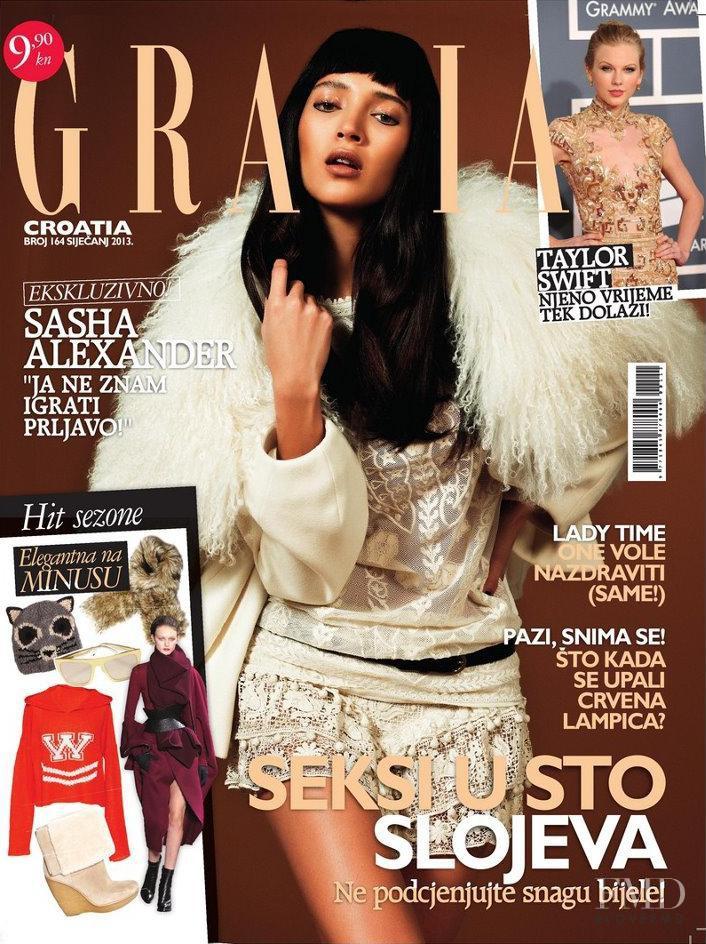 Daniela de Jesus featured on the Grazia Croatia cover from January 2013