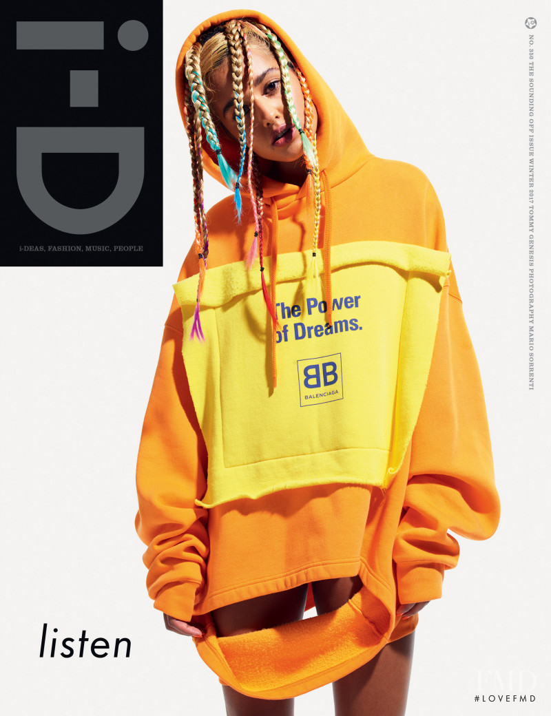 Tommy Genesis  featured on the i-D cover from December 2017