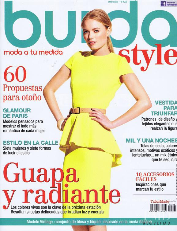Cover Of Burda Style Spain With Sophie Reiser August 2012 Id 15228 Magazines The Fmd