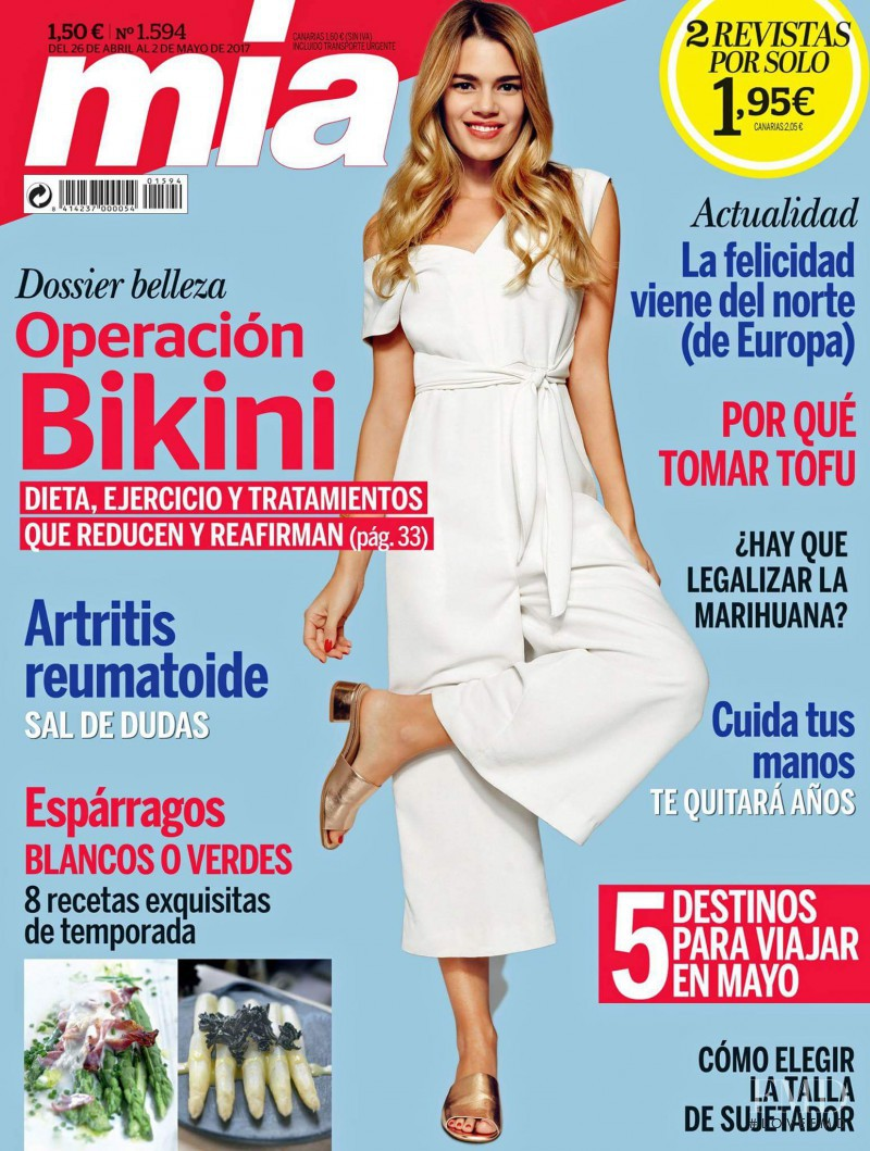 Mirian Perez featured on the Mia cover from April 2017