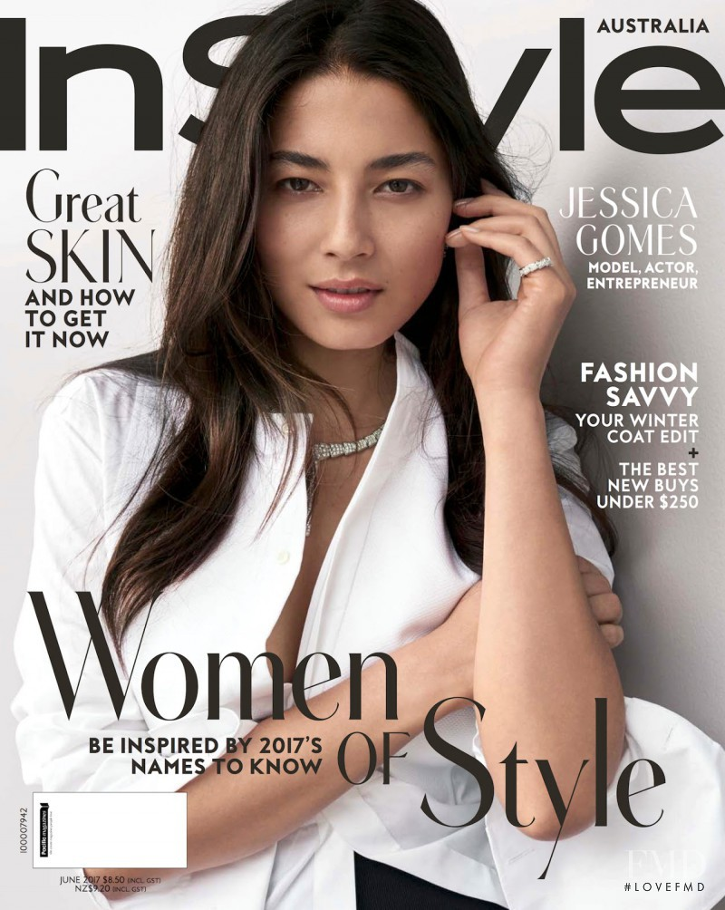 Jessica Gomes featured on the InStyle Australia cover from June 2017