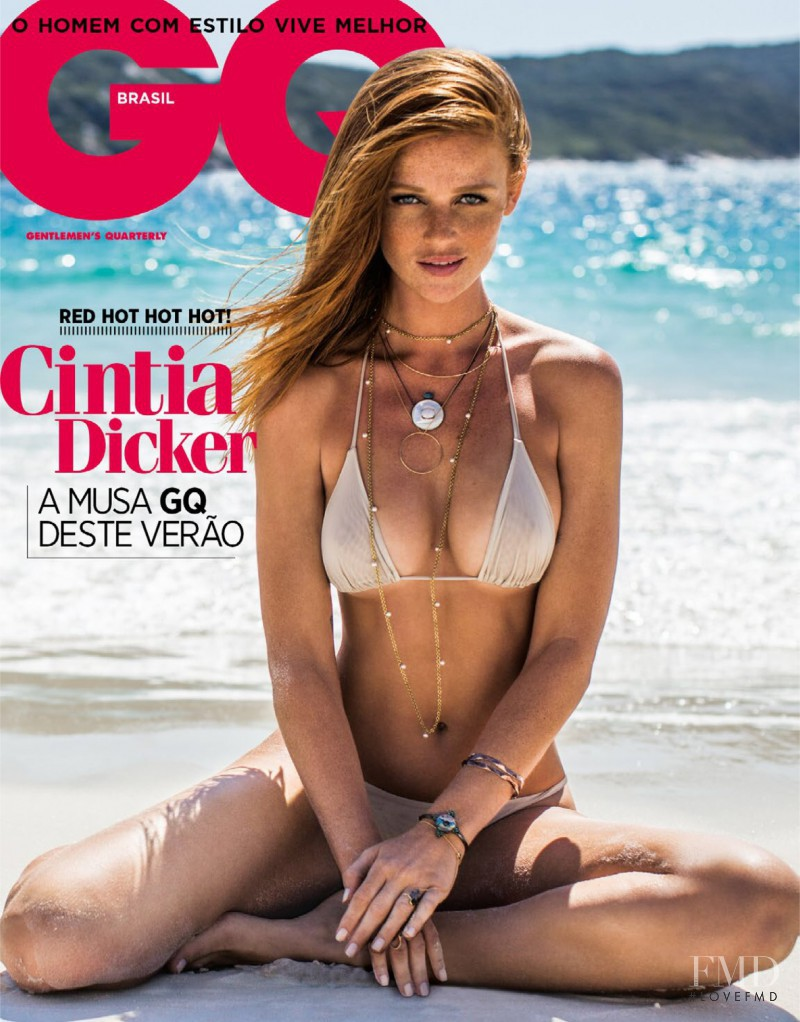 Cintia Dicker featured on the GQ Brazil cover from February 2015
