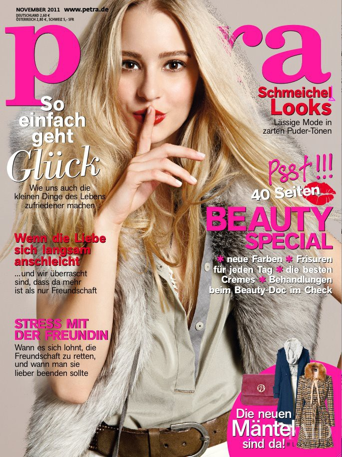 Dominika Grinjova featured on the Petra cover from November 2011