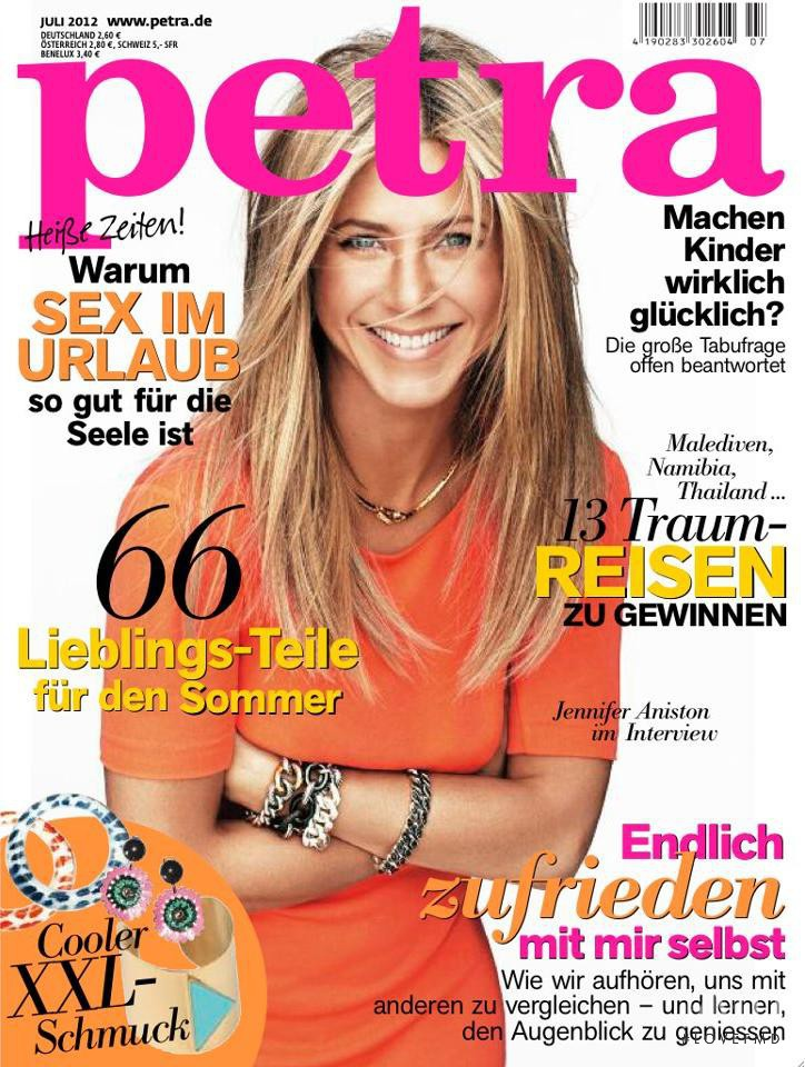 Jennifer Aniston featured on the Petra cover from July 2012
