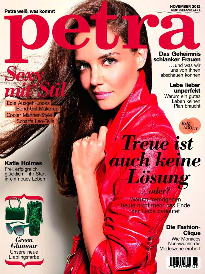 Katie Holmes featured on the Petra cover from November 2012