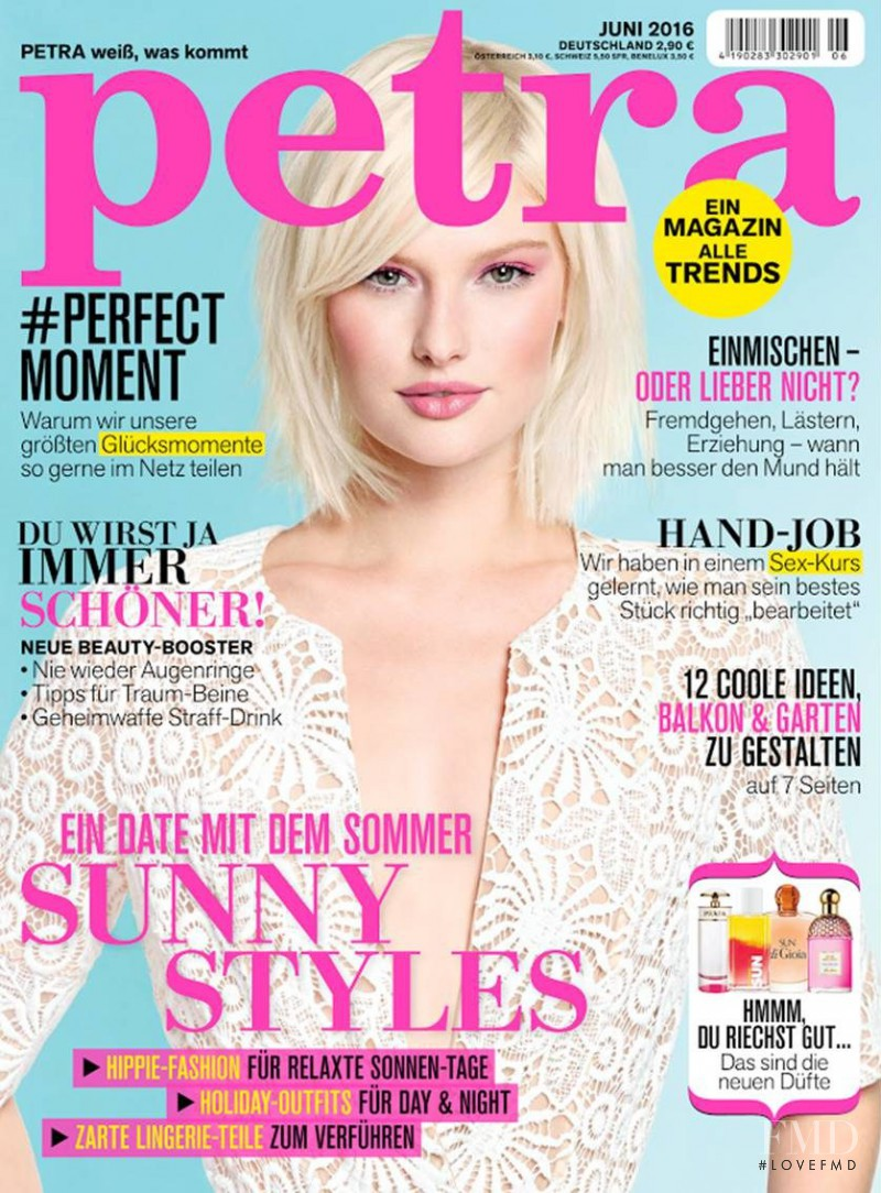 Anna Emilia Saari featured on the Petra cover from June 2016