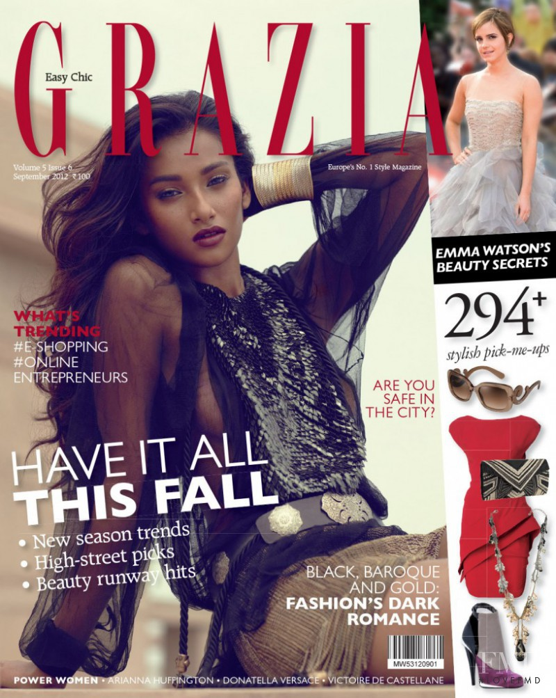 Nidhi Sunil featured on the Grazia India cover from September 2012