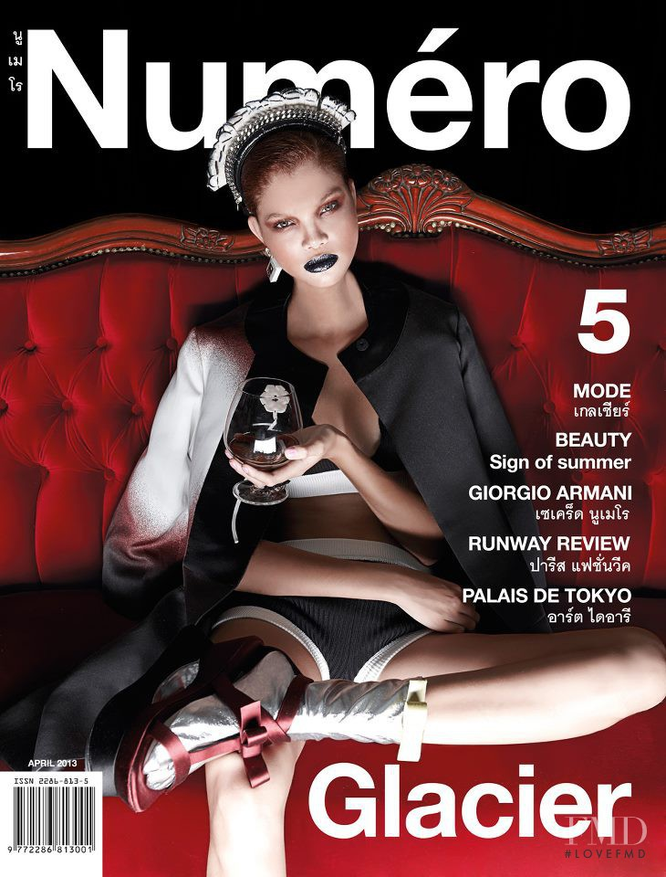 Carmen Solomons featured on the Numéro Thailand cover from April 2013