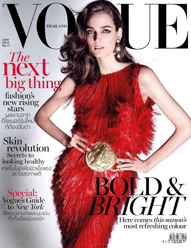 Zuzanna Bijoch featured on the Vogue Thailand cover from June 2014