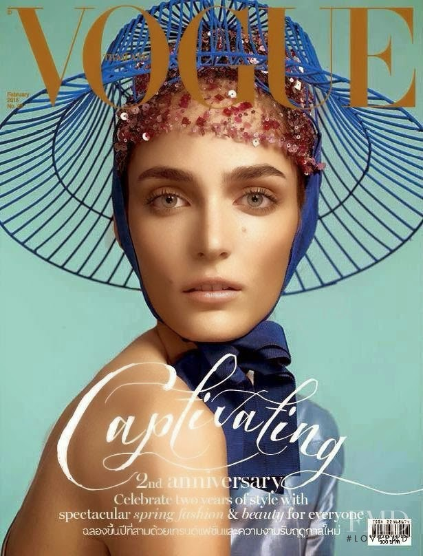 Zuzanna Bijoch featured on the Vogue Thailand cover from February 2015
