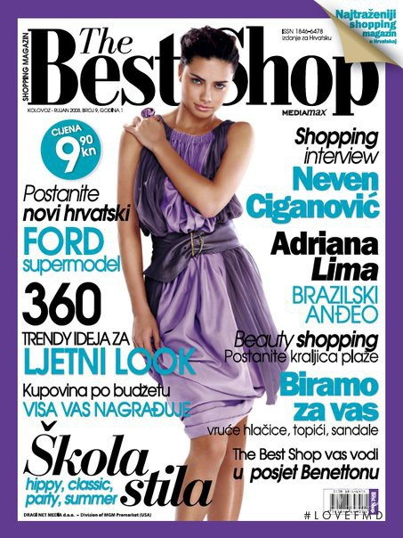 Adriana Lima featured on the The Best Shop Croatia cover from August 2008
