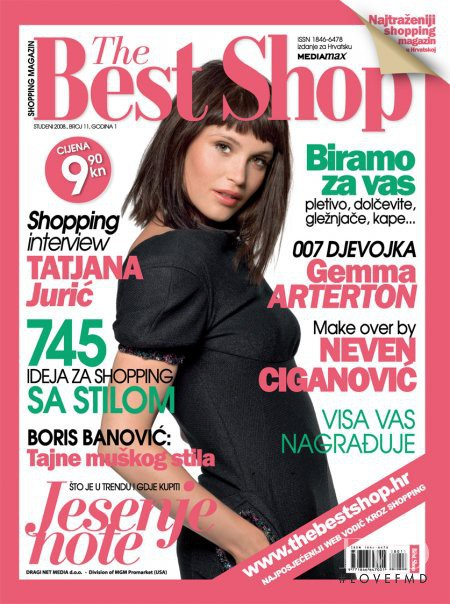Gemma Arterton featured on the The Best Shop Croatia cover from December 2008