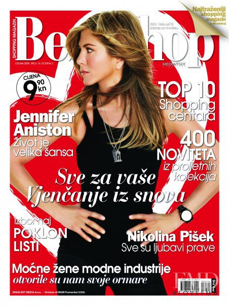 Jennifer Aniston featured on the The Best Shop Croatia cover from March 2009