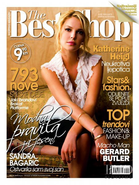 Katherine Heigl featured on the The Best Shop Croatia cover from October 2009