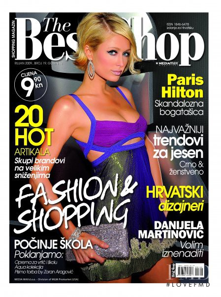 Paris Hilton featured on the The Best Shop Croatia cover from September 2009
