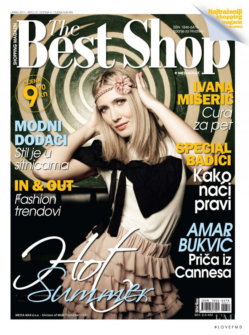 Ivana Miseric featured on the The Best Shop Croatia cover from June 2011