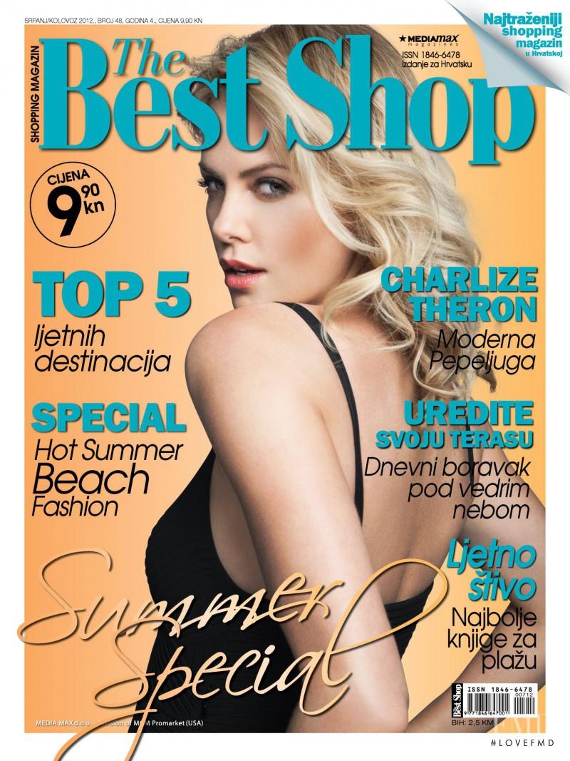 Charlize Theron featured on the The Best Shop Croatia cover from July 2012