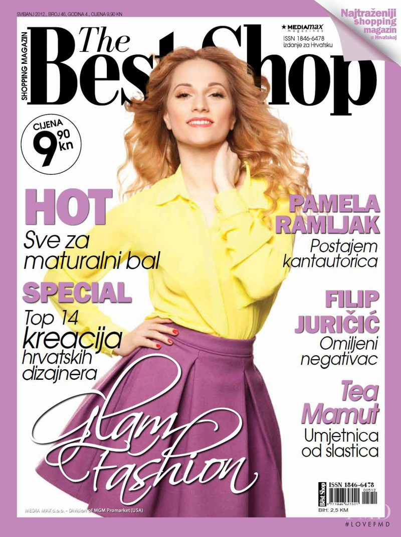 Pamela Ramljak featured on the The Best Shop Croatia cover from May 2012
