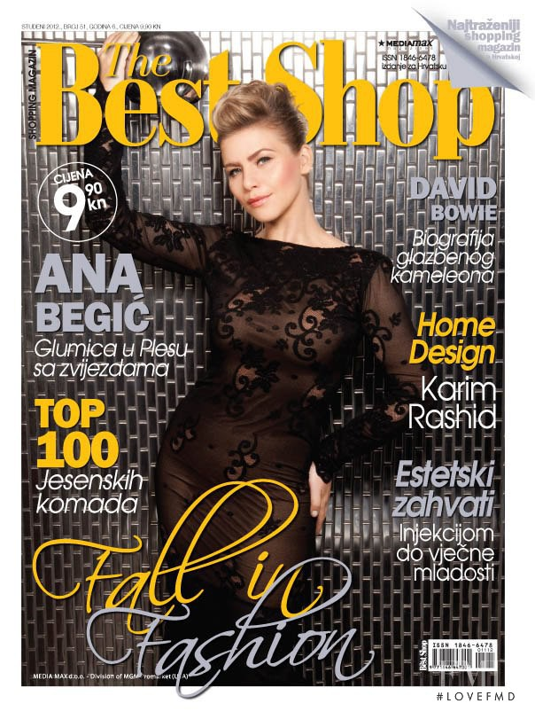 Ana Begic featured on the The Best Shop Croatia cover from November 2012
