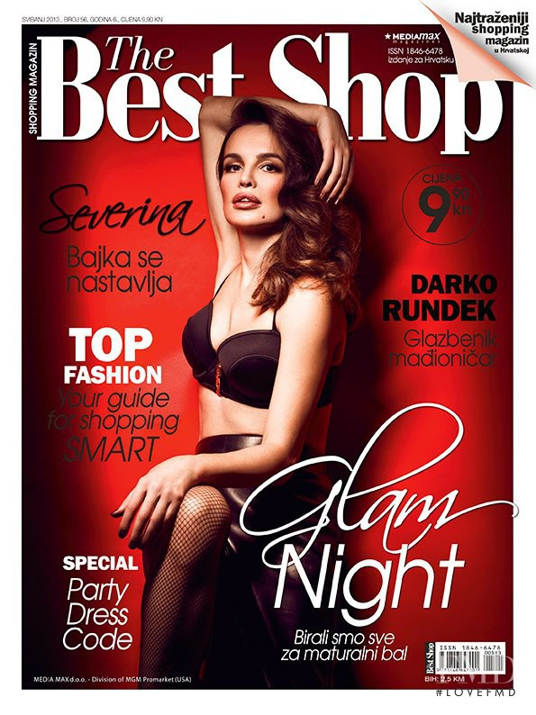 Severina featured on the The Best Shop Croatia cover from May 2013
