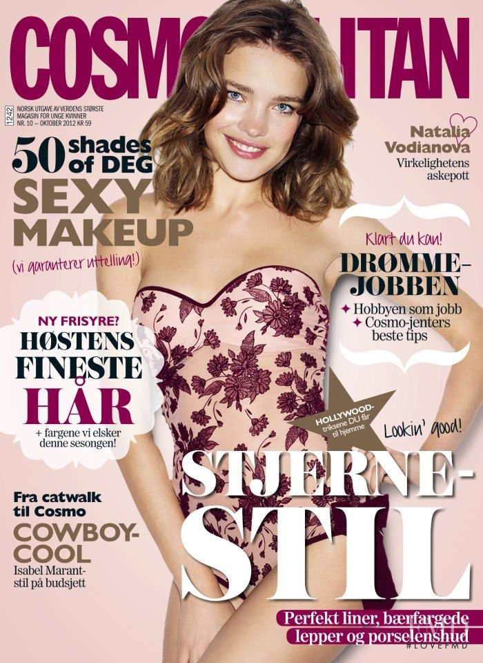 Natalia Vodianova featured on the Cosmopolitan Norway cover from October 2012