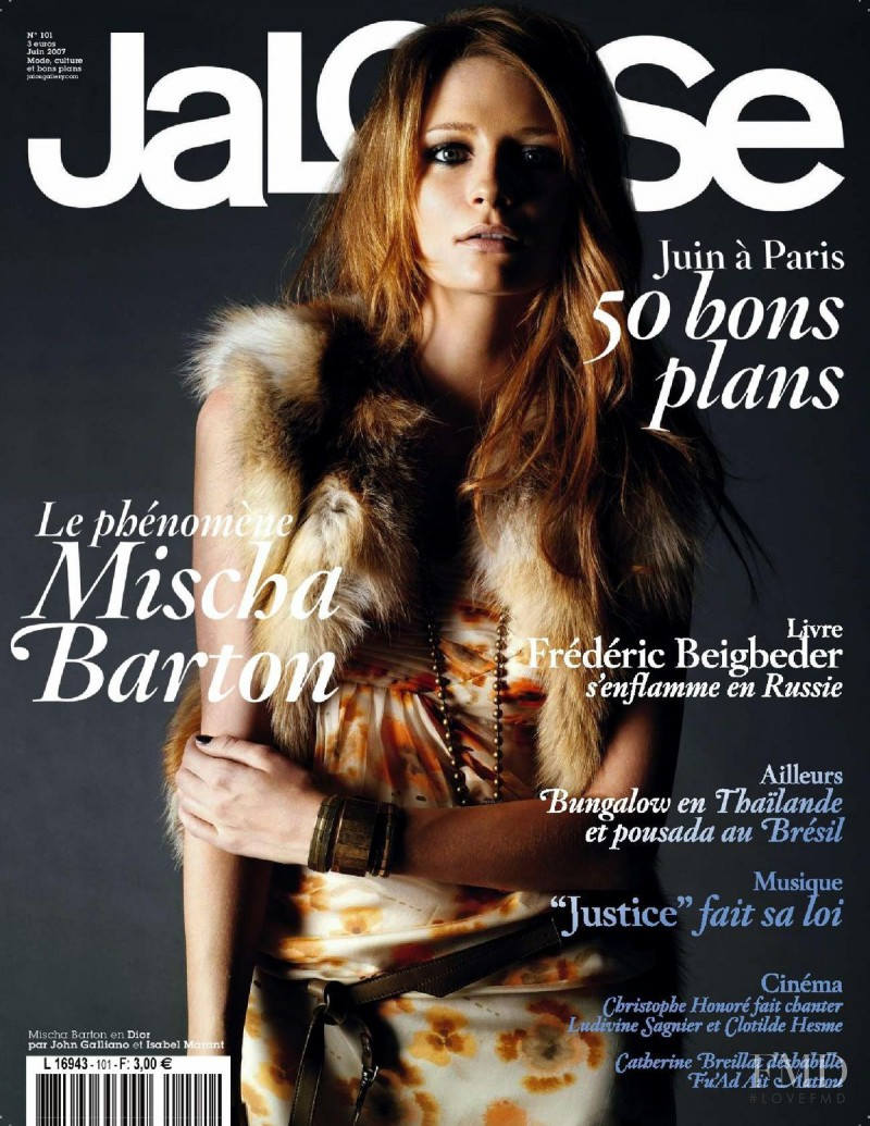 Mischa Barton featured on the Jalouse cover from June 2007