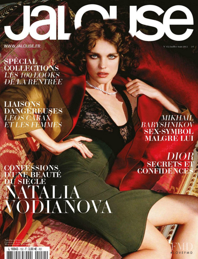 Natalia Vodianova featured on the Jalouse cover from July 2012