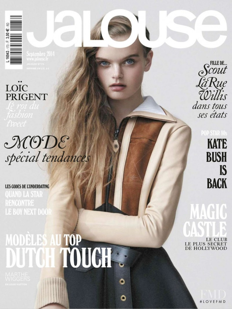 Marthe Wiggers featured on the Jalouse cover from September 2014