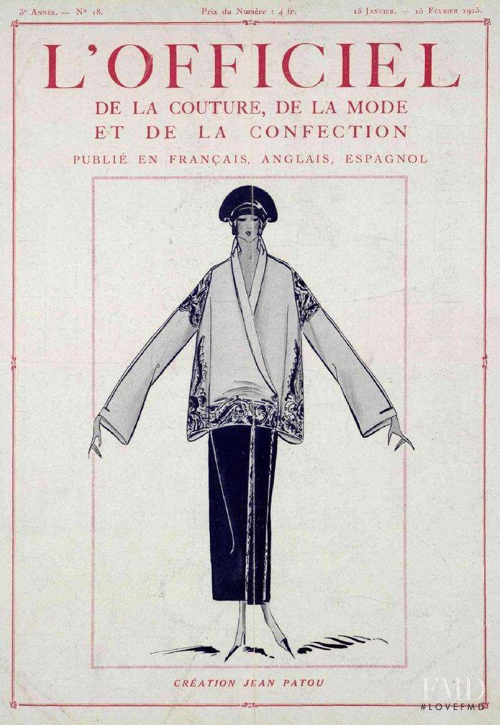 featured on the L\'Officiel France cover from January 1923
