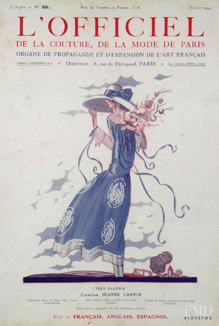 featured on the L\'Officiel France cover from July 1924