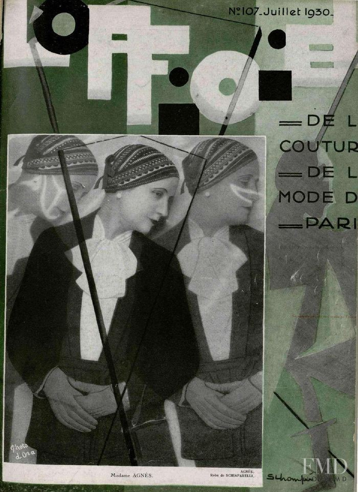 featured on the L\'Officiel France cover from July 1930