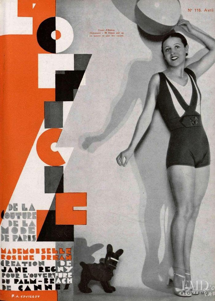 featured on the L\'Officiel France cover from April 1931