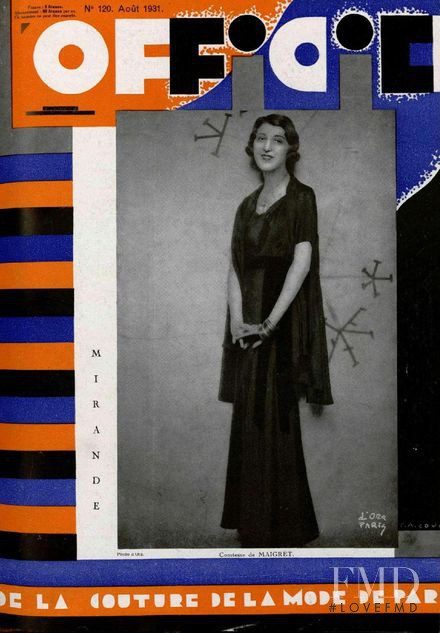 featured on the L\'Officiel France cover from August 1931