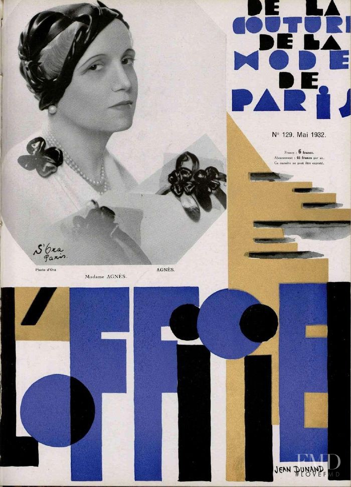 featured on the L\'Officiel France cover from May 1932