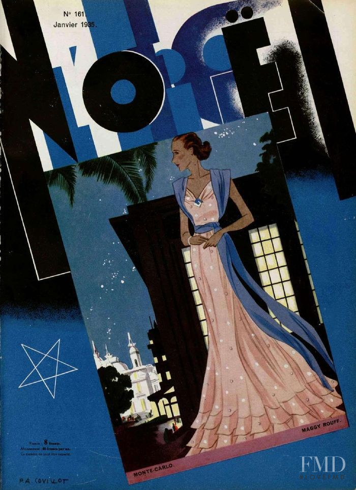featured on the L\'Officiel France cover from January 1935