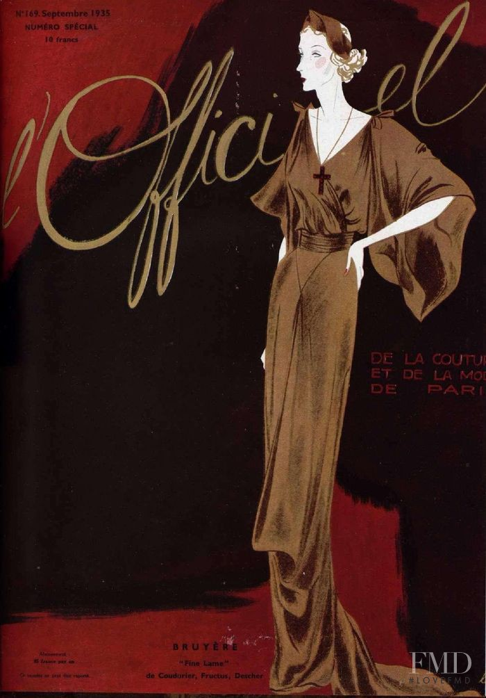 featured on the L\'Officiel France cover from September 1935