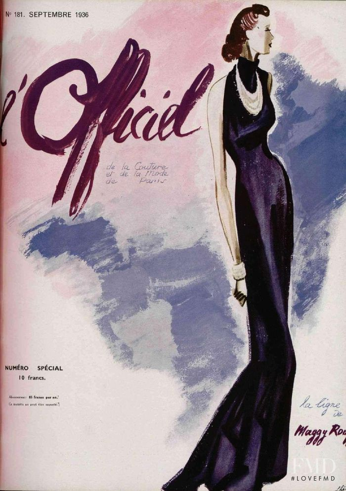 featured on the L\'Officiel France cover from September 1936