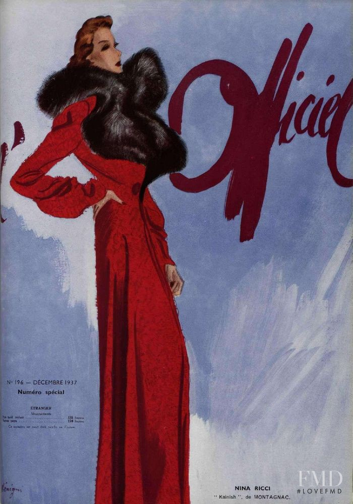 featured on the L\'Officiel France cover from December 1937