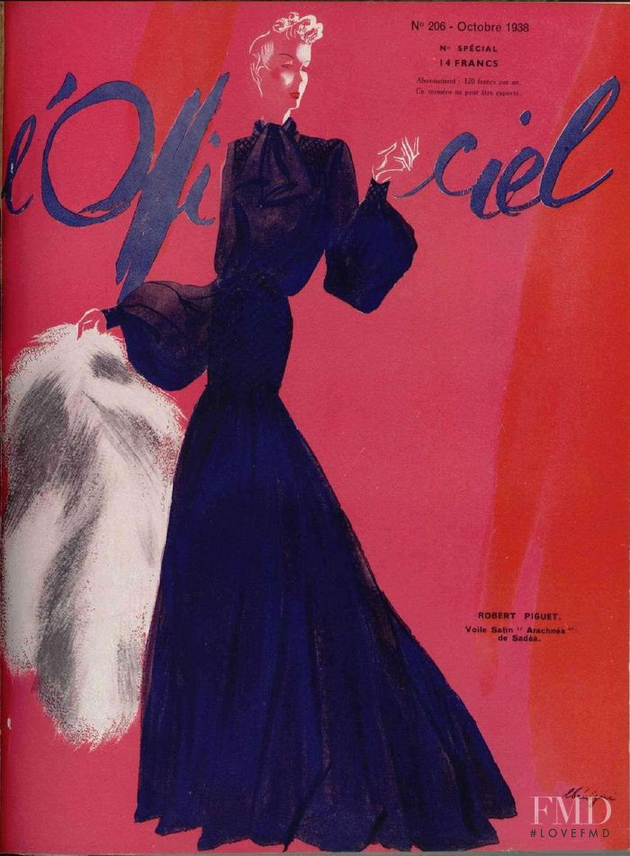featured on the L\'Officiel France cover from October 1938
