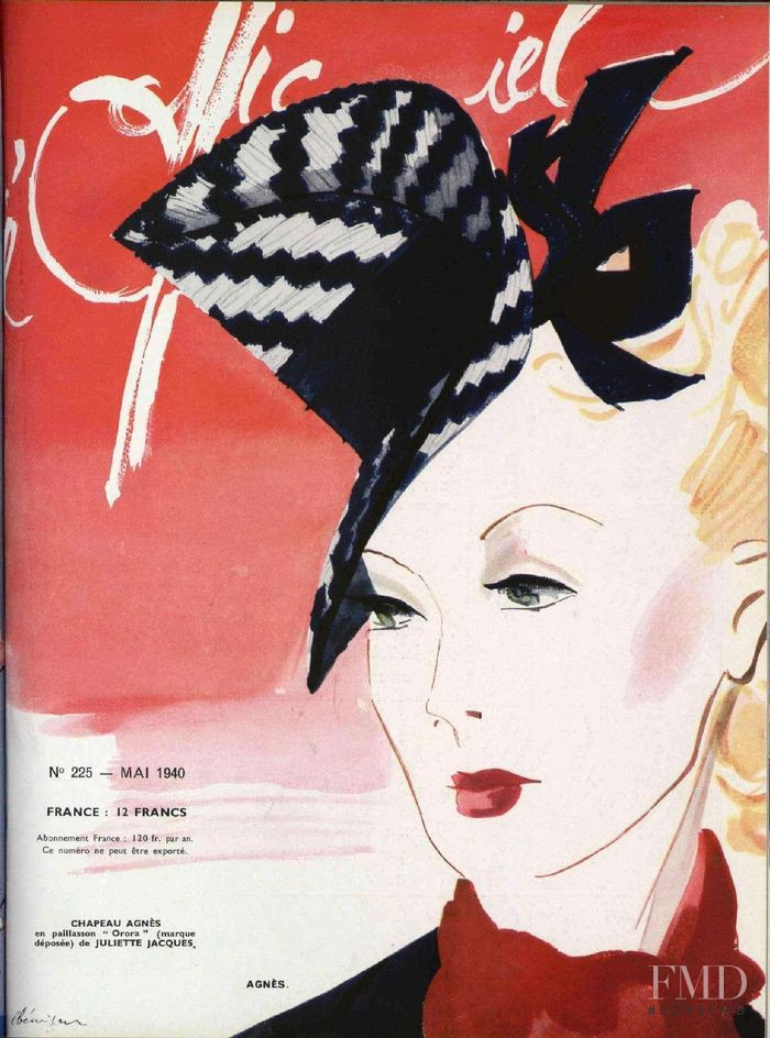 featured on the L\'Officiel France cover from May 1940