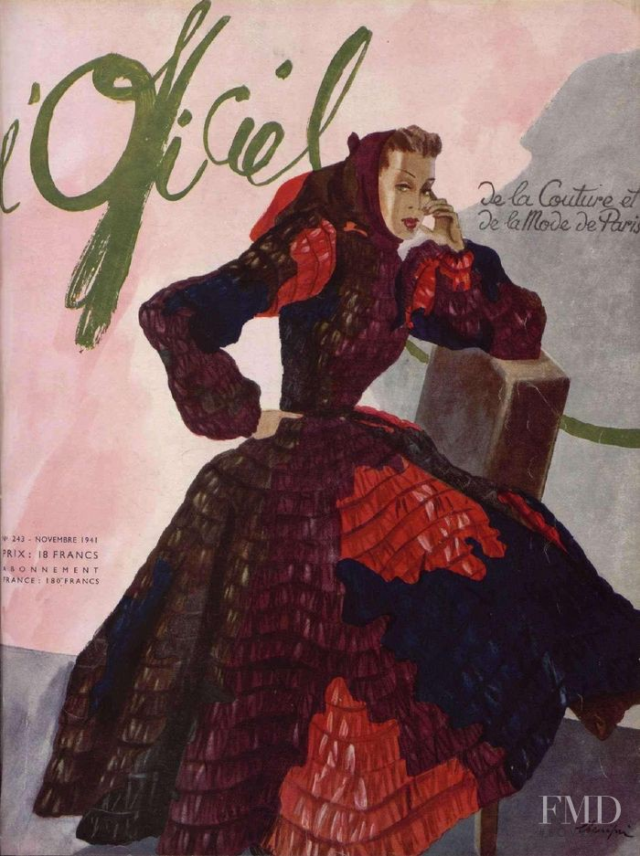 featured on the L\'Officiel France cover from November 1941