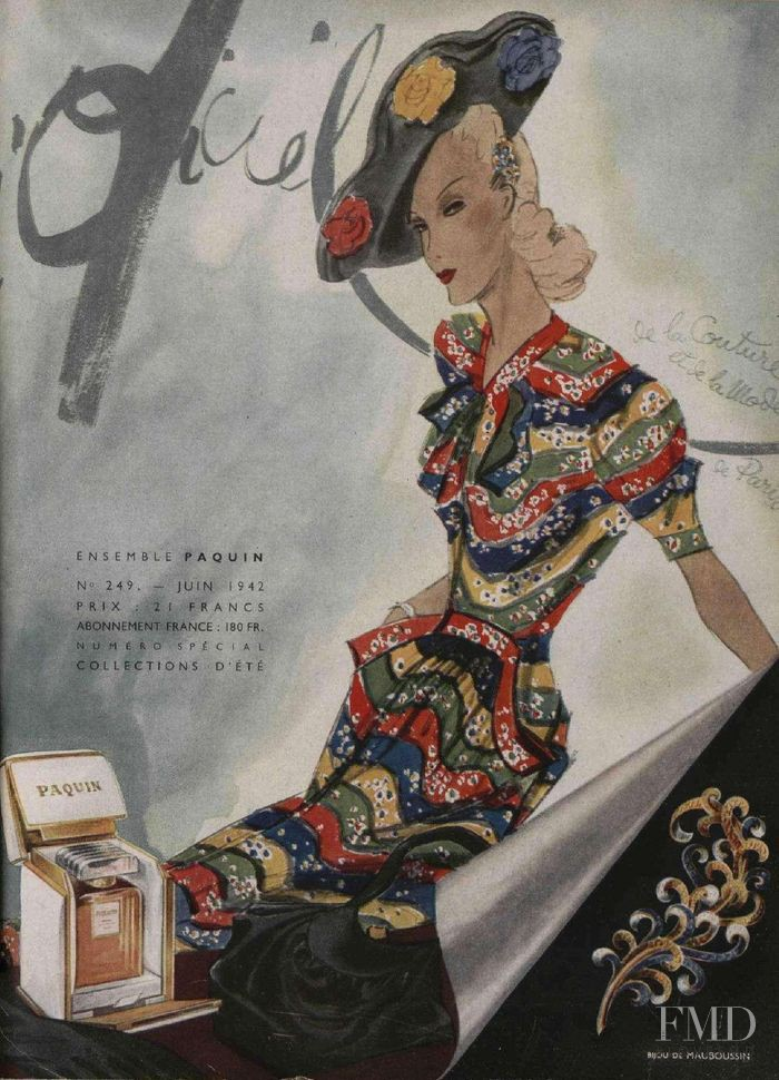 featured on the L\'Officiel France cover from June 1942