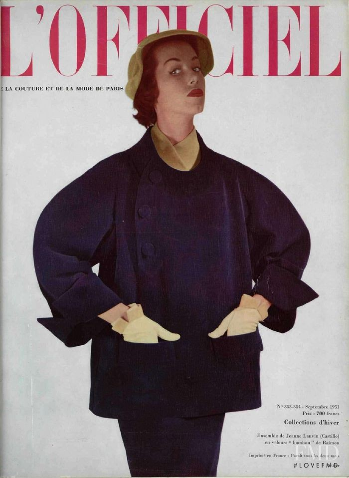 featured on the L\'Officiel France cover from September 1951