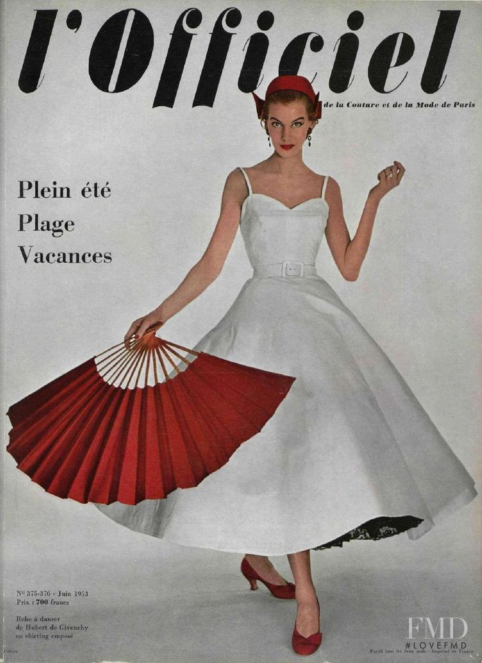 featured on the L\'Officiel France cover from June 1953
