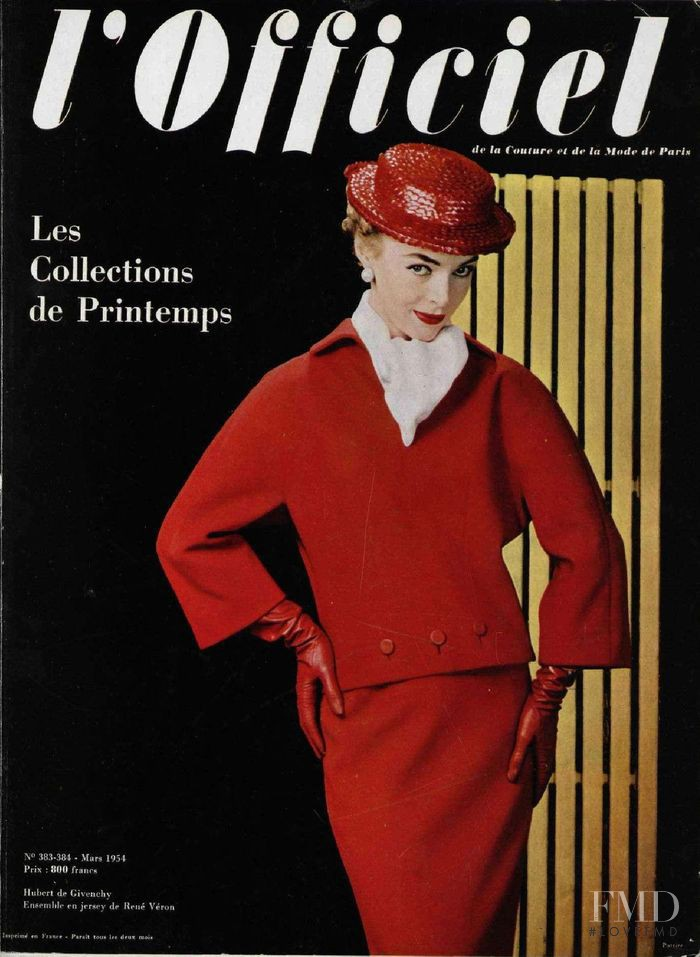 featured on the L\'Officiel France cover from March 1954