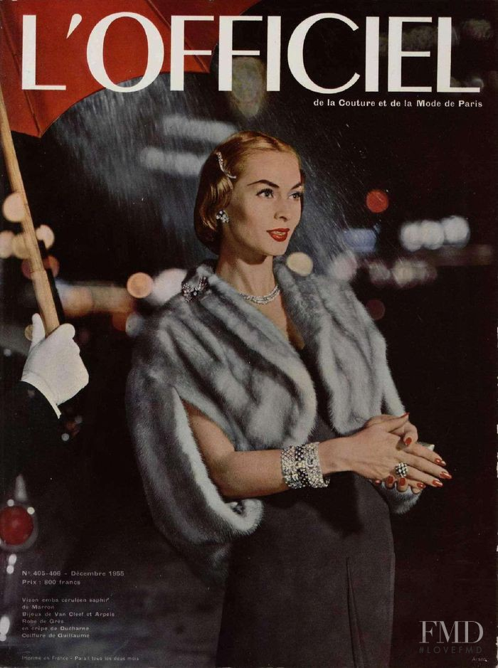 featured on the L\'Officiel France cover from December 1955