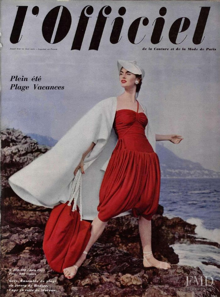 featured on the L\'Officiel France cover from June 1955