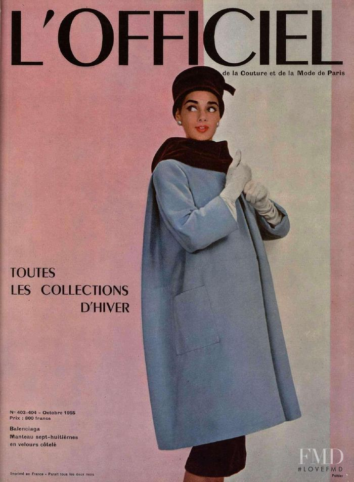 featured on the L\'Officiel France cover from October 1955