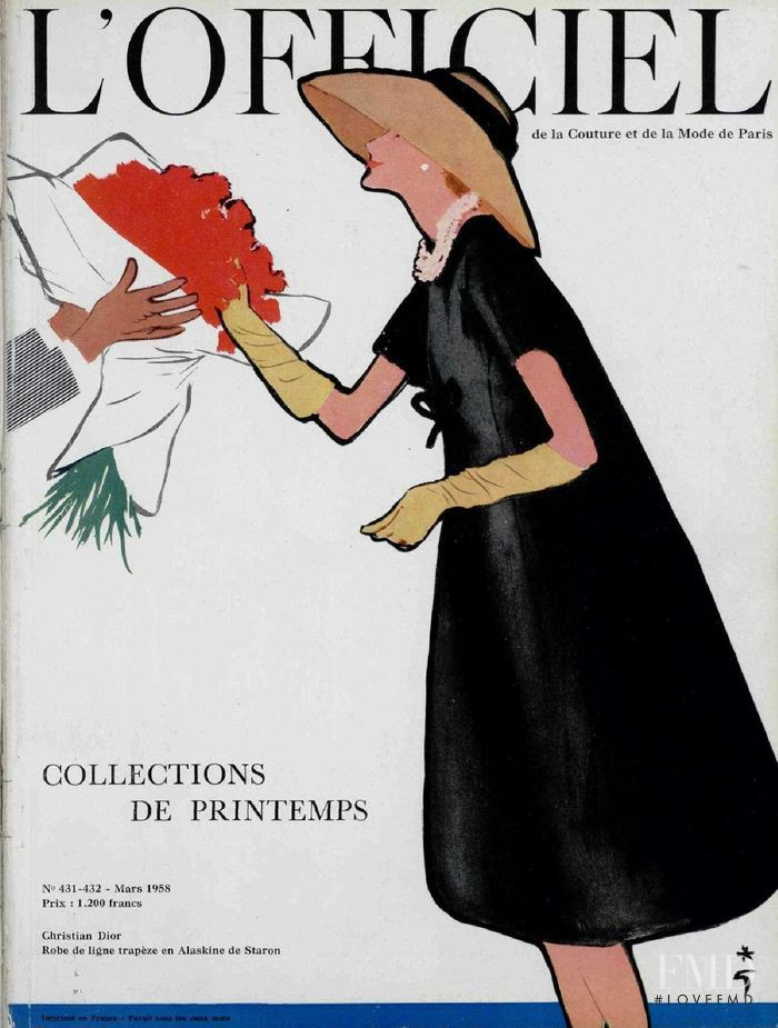 featured on the L\'Officiel France cover from March 1958